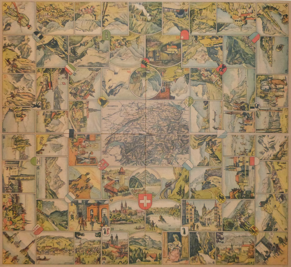 Un voyage en Suisse. Ravensburg, Otto Robert Maier, 1890 circa.