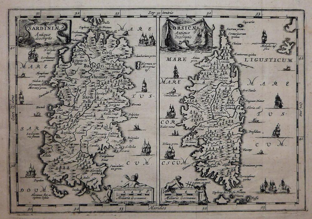 Sardiniæ - Corsicæ. Amsterdam, 1650 - 1660 circa.