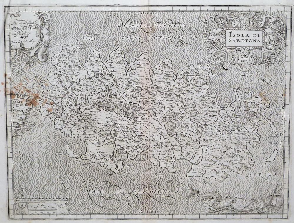 Isola di Sardegna. Bologna, Fabio Magini, 1620.