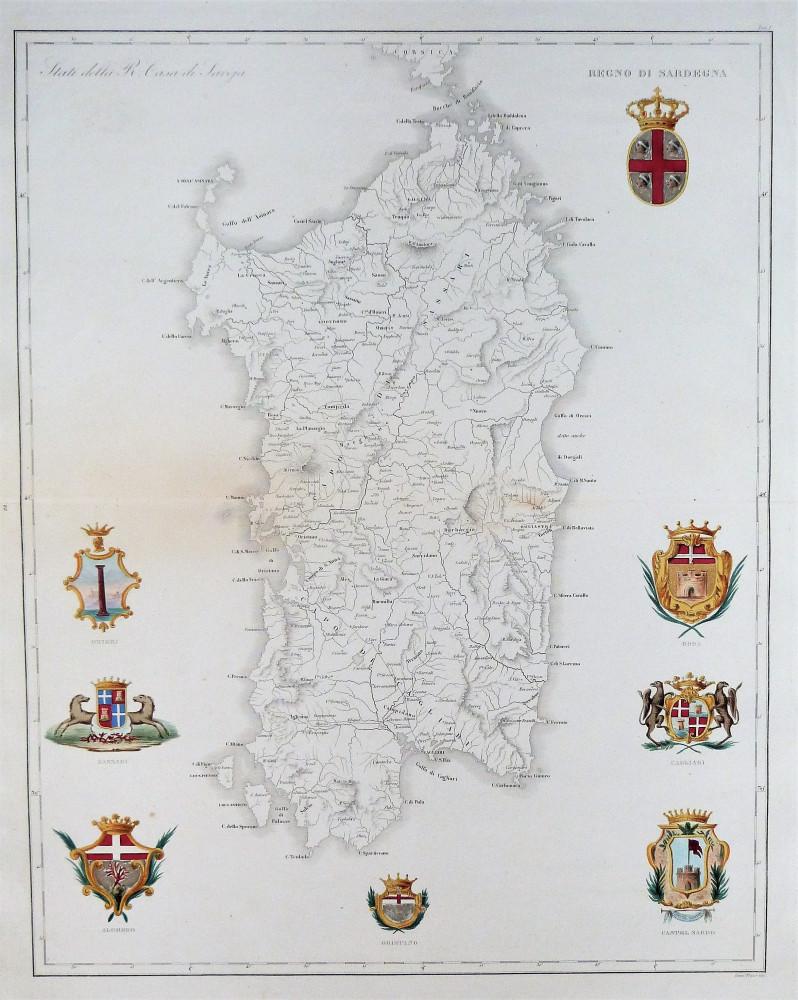 Regno di Sardegna. Milano, Pompeo Litta Biumi - Giuseppe Pezze, 1820 circa.