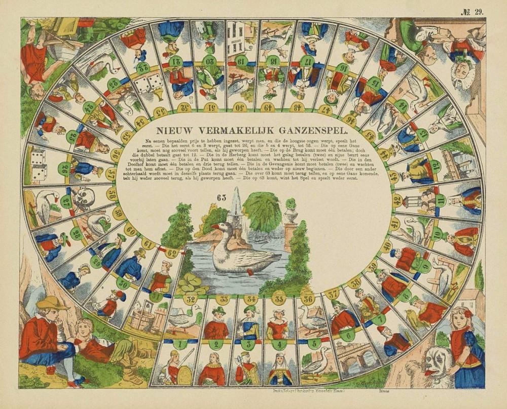 Nieuw vermakelijk ganzenspel. Weissenbourg, Charles Burckhardt, 1890 circa.