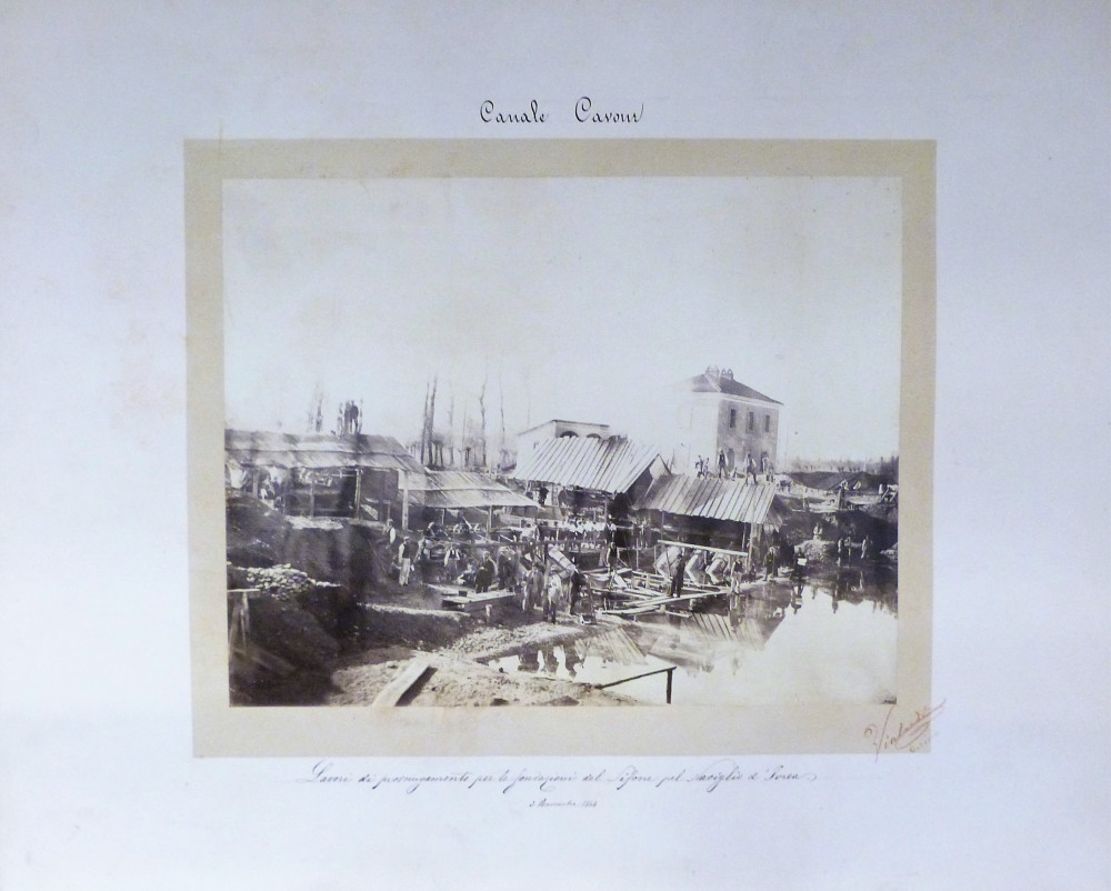 Canale Cavour. Torino, Alberto Luigi Vialardi, 1864.
