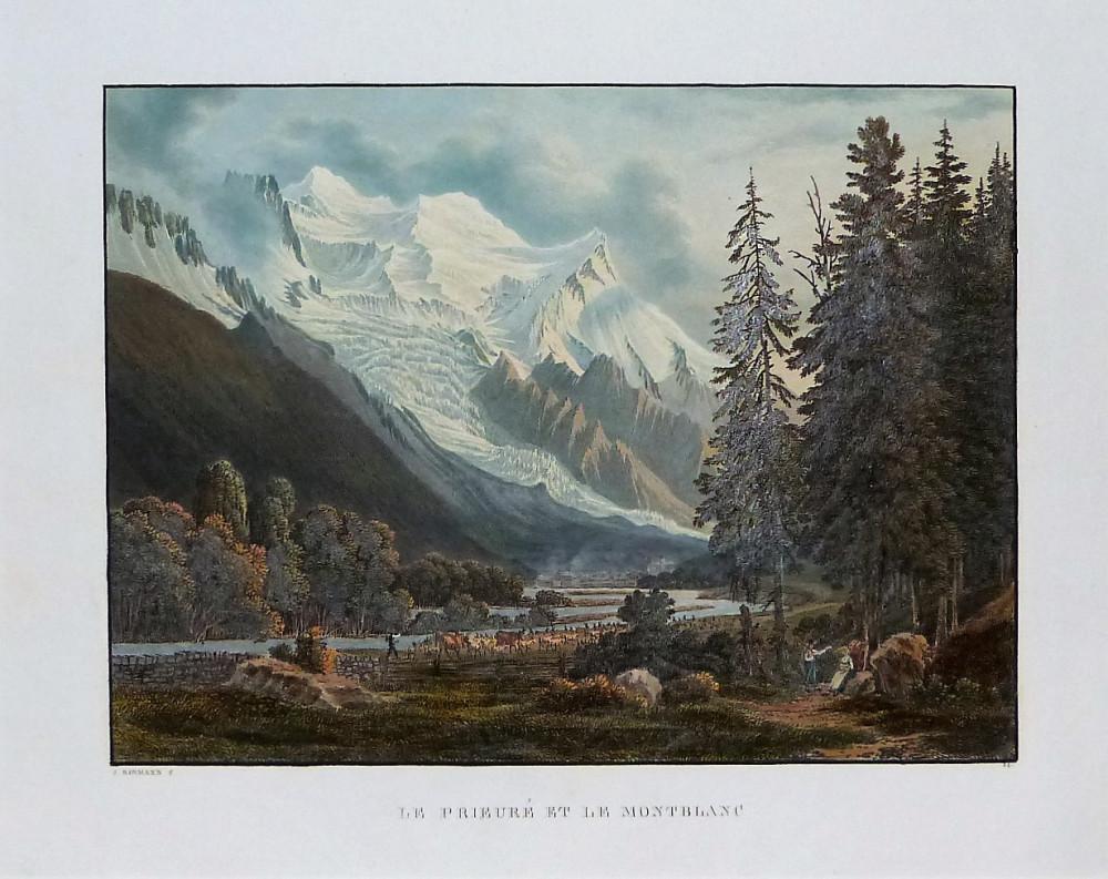 Le Prieuré et le Montblanc. Basilea, Samuel Birmann, 1826.