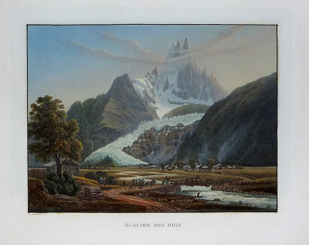 Glacier de Bois. Basilea, Samuel Birmann, 1826.