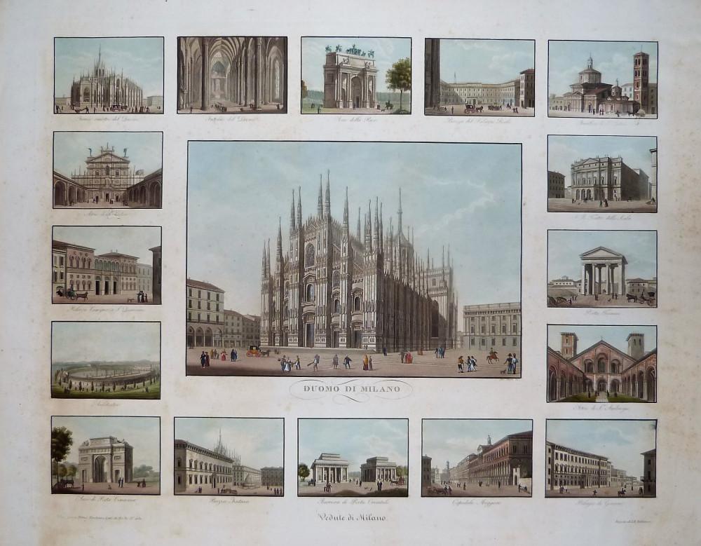 Vedute di Milano. Milano, Primo Torchiana, 1828.