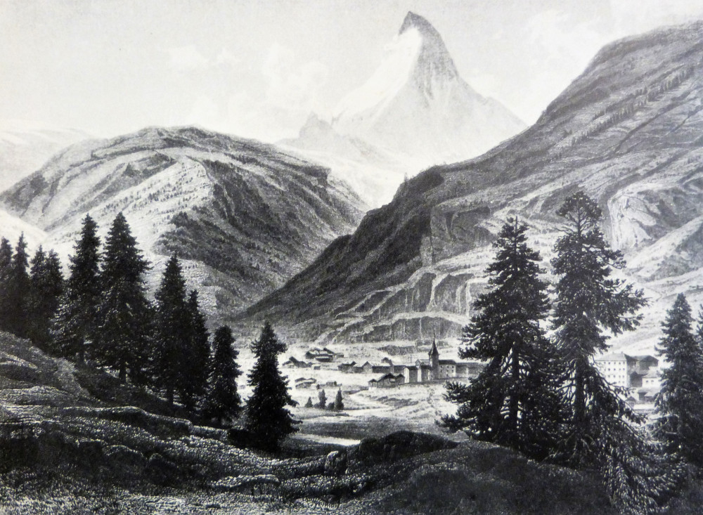Das Matterhorn und Zermatt. (Wallis). Darmstadt, G. M. Kruz, 1866.
