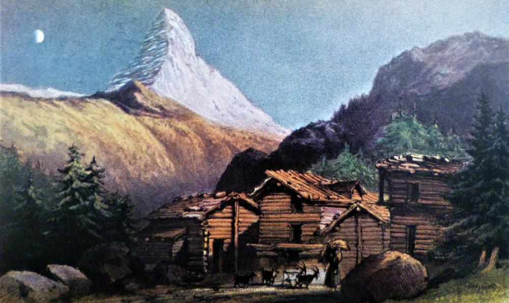 Mont Cervin; (from above Zermatt), Sunset. Londra, M. &. N. Hanhart, 1859.