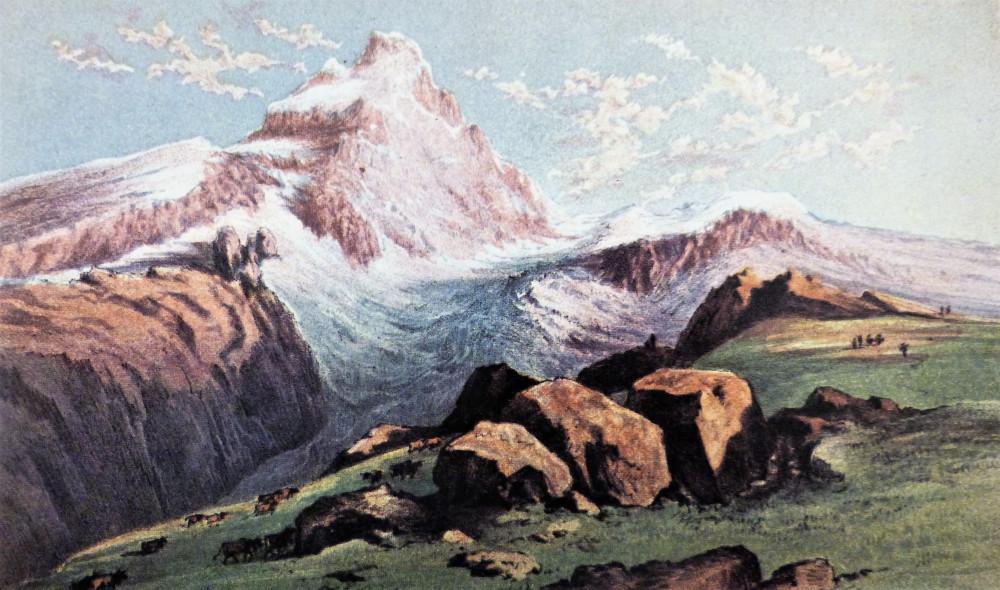 Mont Cervin; (from above Breuil), Sunset. Londra, M. &. N. Hanhart, 1859.
