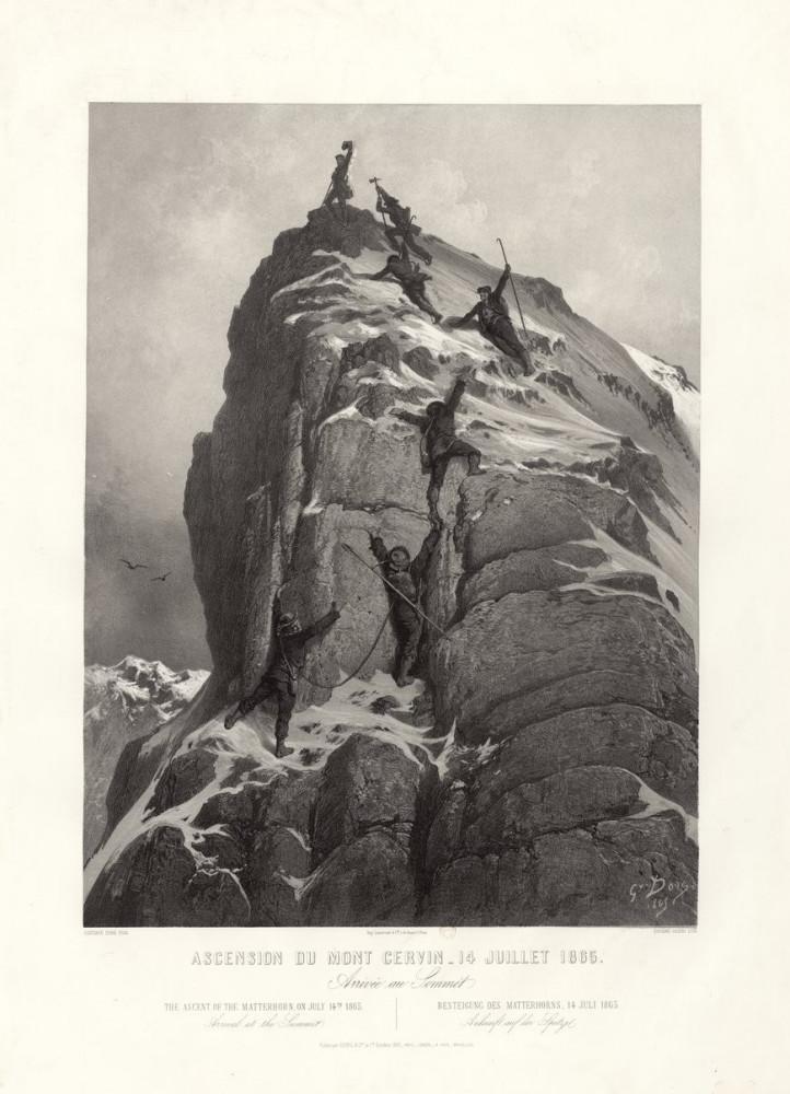 Ascension du Mont Cervin - 14 juillets 1865. La chute. Parigi, Goupil, 1865.