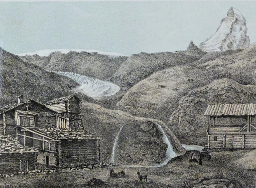 Vue de Zermatt. Berna, J. C. Ochsner, 1856 - 1857 circa.
