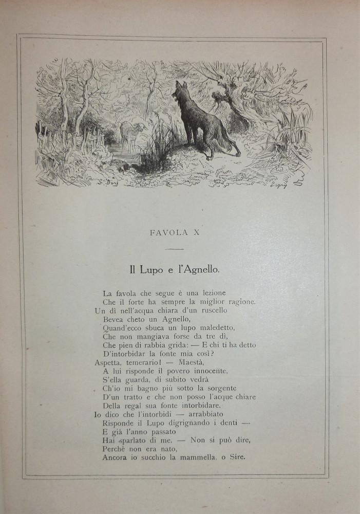 La Fontaine, Jean de - Doré, Gustave. Le favole. Milano, Sonzogno, 1889.